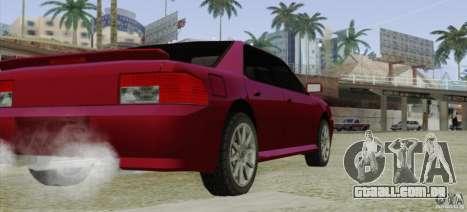 Sultan SRX para GTA San Andreas traseira esquerda vista