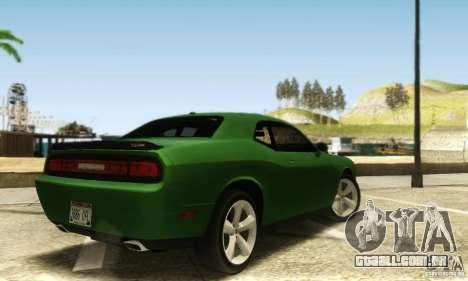 Dodge Challenger SRT-8 para GTA San Andreas traseira esquerda vista