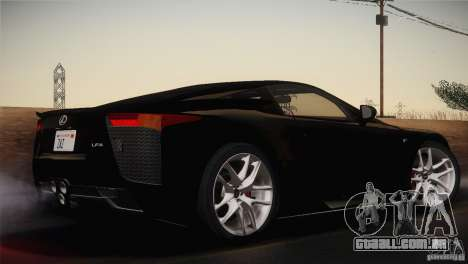 Lexus LFA (US-Spec) 2011 para GTA San Andreas esquerda vista