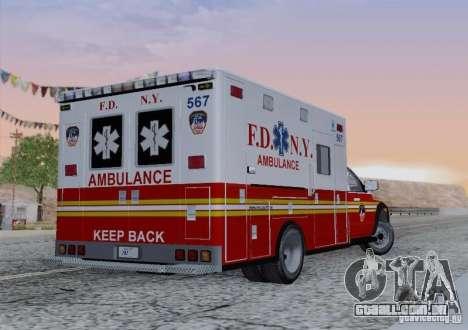 Dodge Ram Ambulance para vista lateral GTA San Andreas