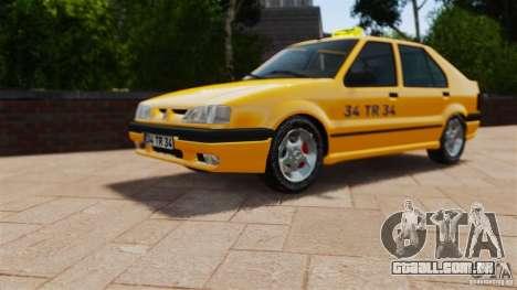 Táxi Renault 19 para GTA 4 vista direita