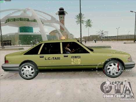 HD táxi SA de GTA 3 para GTA San Andreas traseira esquerda vista