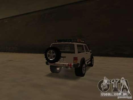 Jeep Cherokee Sport para GTA San Andreas traseira esquerda vista