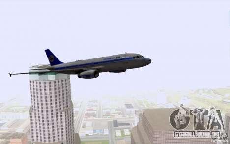 Airbus A-319 Azerbaijan Airlines para GTA San Andreas vista inferior