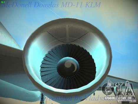 McDonnell Douglas MD-11 KLM Royal Dutch Airlines para GTA San Andreas vista superior
