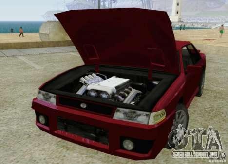Sultan SRX para GTA San Andreas vista interior