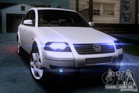 Volkswagen Passat B5 para vista lateral GTA San Andreas