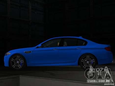 BMW M5 F10 2012 para GTA Vice City deixou vista