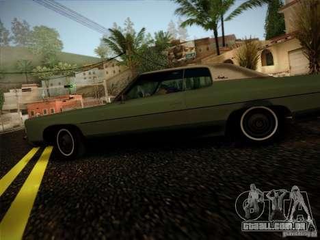Chevrolet Impala 1972 para GTA San Andreas esquerda vista