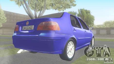 Fiat Albea Sole para GTA San Andreas esquerda vista