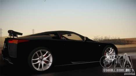 Lexus LFA (US-Spec) 2011 para GTA San Andreas vista direita