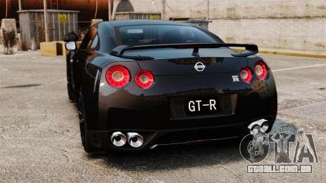 Nissan GT-R Black Edition (R35) 2012 para GTA 4 traseira esquerda vista