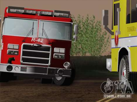Pierce Contender LAFD Rescue 42 para GTA San Andreas vista inferior