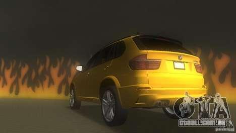 BMW X5 para GTA Vice City vista traseira esquerda