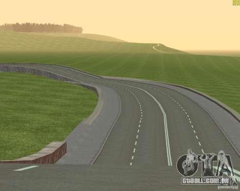 Terminou a construção da estrada para a Rússia d para GTA San Andreas por diante tela