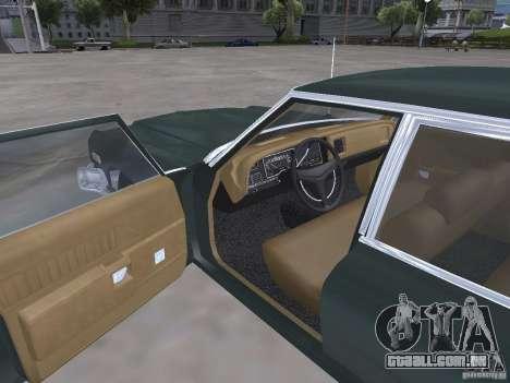 Dodge Monaco 1974 para GTA San Andreas vista interior
