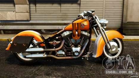 Harley Davidson Fat Boy Lo Vintage para GTA 4 esquerda vista