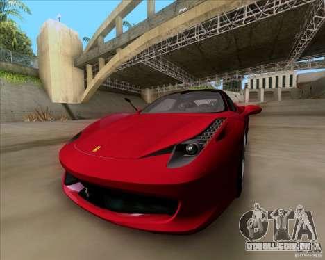 Ferrari 458 Italia V12 TT Black Revel para GTA San Andreas vista direita