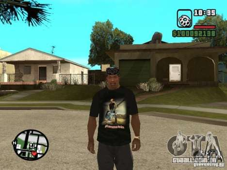 Rammstein t-shirt v1 para GTA San Andreas terceira tela