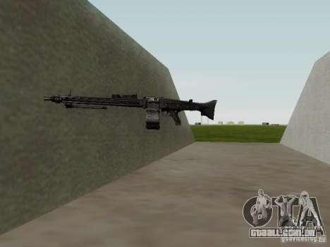 A metralhadora MG-42 para GTA San Andreas quinto tela