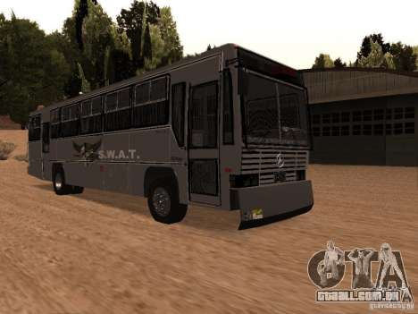 Mercedes Benz SWAT Bus para GTA San Andreas vista direita