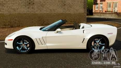 Chevrolet Corvette C6 2010 Convertible para GTA 4 esquerda vista