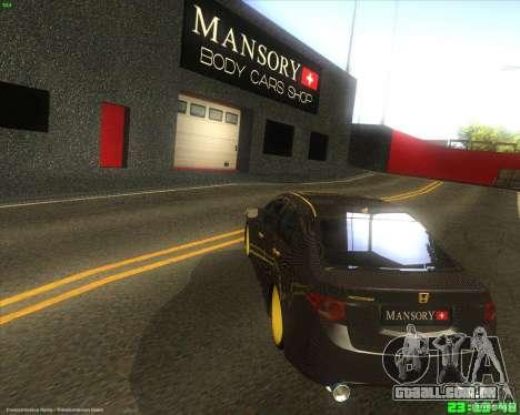 Honda Accord Mansory para GTA San Andreas traseira esquerda vista