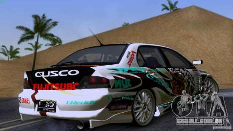 Mitsubishi Lancer Evolution 8 para GTA San Andreas vista direita