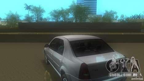 Dacia Logan para GTA Vice City vista traseira esquerda