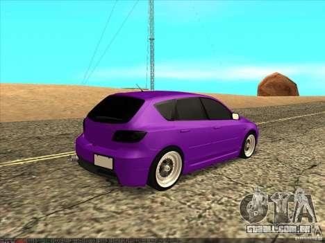 Mazda Speed 3 Stance para GTA San Andreas traseira esquerda vista