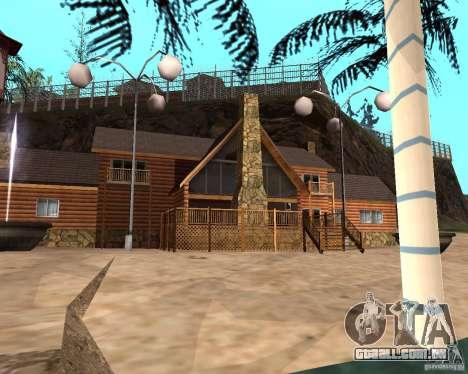 Villa na lagoa de pesca para GTA San Andreas sexta tela