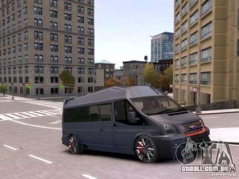 Ford Transit Sport Edition RV 2013 para GTA 4 vista de volta