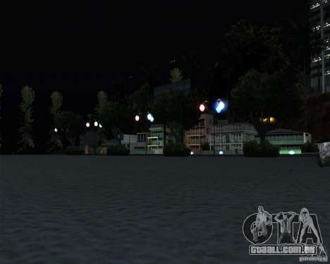 Modern beach in Los-Santos para GTA San Andreas por diante tela