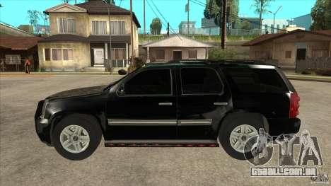GMC Yukon Unmarked FBI para GTA San Andreas esquerda vista