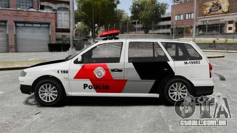 Volkswagen Parati G4 PMESP ELS para GTA 4 esquerda vista