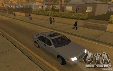 Mercedes Benz C220 para GTA San Andreas vista interior