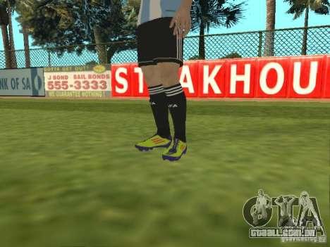 Lionel Messi para GTA San Andreas quinto tela