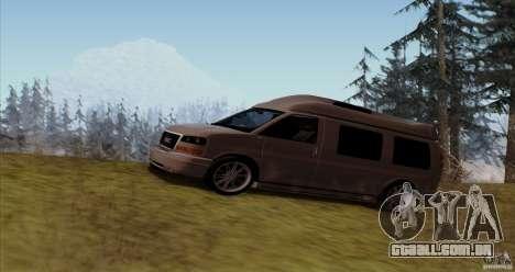 GMC Savana AWD para GTA San Andreas esquerda vista