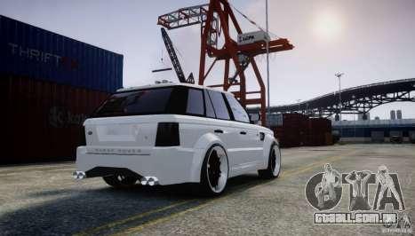 Range Rover Sport RR SCHEARZ para GTA 4 traseira esquerda vista