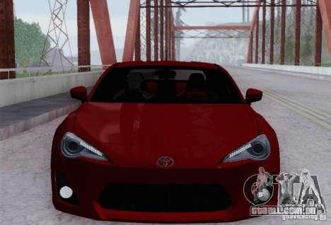 Toyota GT86 para GTA San Andreas vista superior