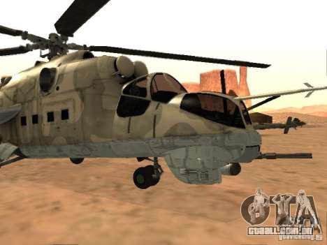 Mi-24 p para GTA San Andreas esquerda vista