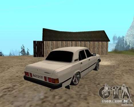 GAZ 31029 para GTA San Andreas vista traseira