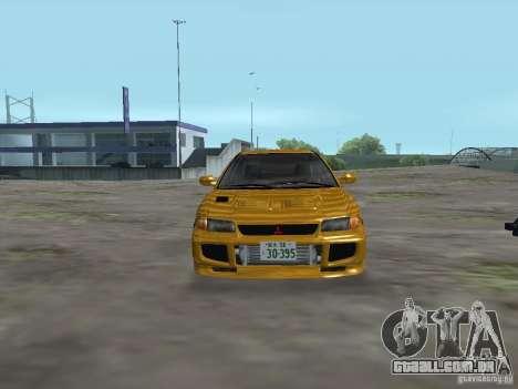 Mitsubishi Lancer Evolution III para GTA San Andreas vista traseira