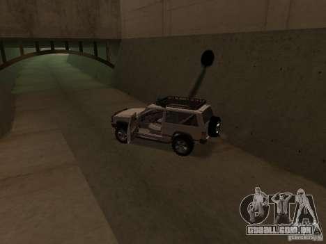Jeep Cherokee Sport para GTA San Andreas vista interior