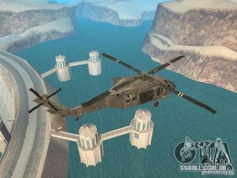 O UH-60 do COD MW3 para GTA San Andreas traseira esquerda vista