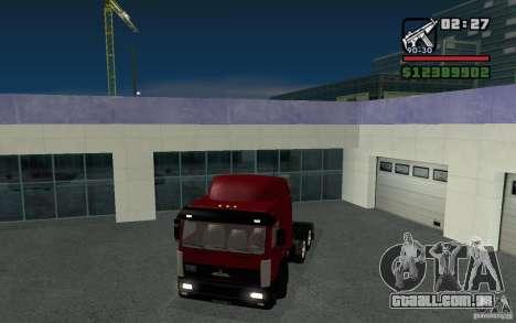Maz-643068 para GTA San Andreas traseira esquerda vista
