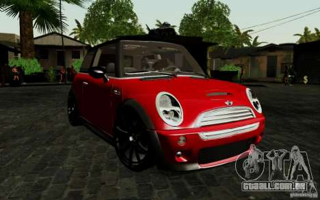 Mini Cooper S Tuned para GTA San Andreas esquerda vista