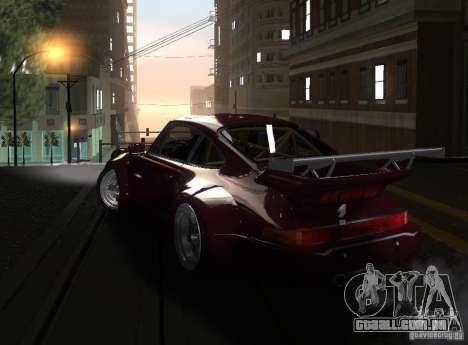 Porsche 911 Turbo RWB para GTA San Andreas esquerda vista