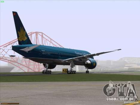 Boeing 777-2Q8ER Vietnam Airlines para GTA San Andreas vista inferior