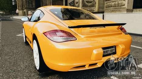 Porsche Cayman R 2012 [RIV] para GTA 4 traseira esquerda vista